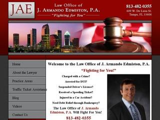 J. Armando Edmiston, P.A. Tampa Lawyer