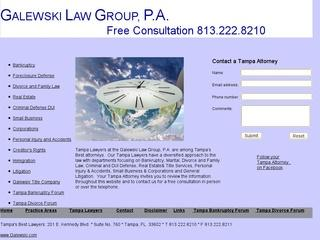 Galewski Law Group Tampa Bankruptcy Lawyer