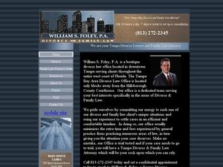 William S. Foley Divorce Tampa Lawyer